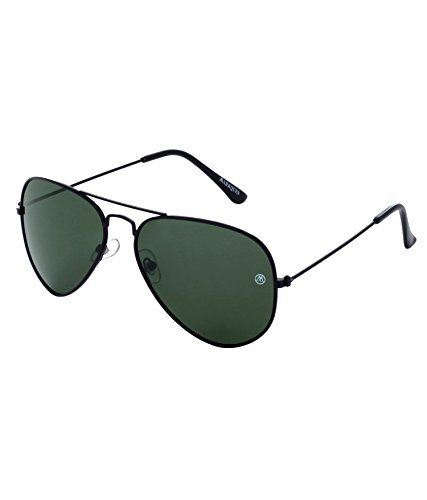 MarkQues Polarized Aviator Sunglasses (Black) (PLR-550114)