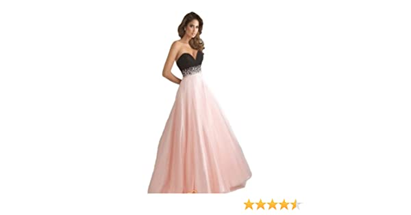 P97 black PINK size 6 8 10 12 14 Evening Dresses party full Length Prom gown ball dress robe (PINK-SIZE 8): Amazon.co.uk: Clothing