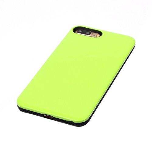 Für iPhone 7 Plus TPU + PU-kombinierter schützender rückseitige Abdeckungs-Fall by diebelleu ( Color : Grey ) Green