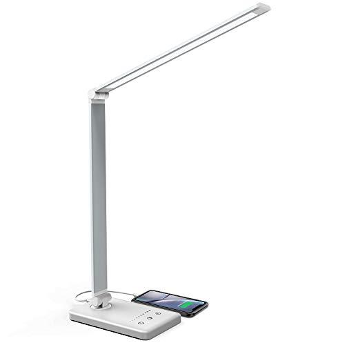 Lámpara Escritorio LED, Jirvyuk Lámparas de Mesa USB Recargable ...