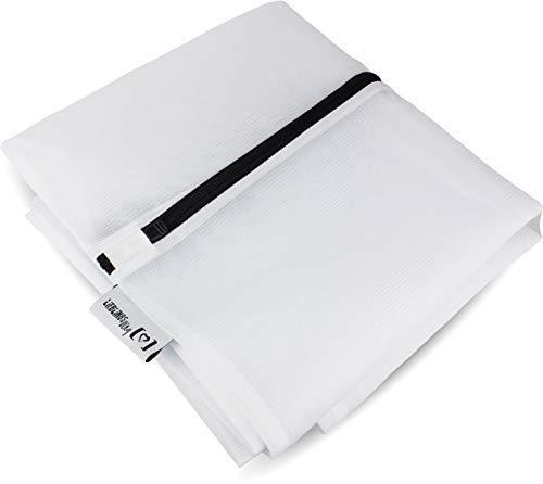 LIEBLINGSDING Premium XXL Wäschenetz für Waschmaschine I extra groß für Tier-Decken Bettwäsche Gardinen Wäschesack I Wäschenetze mit Reißverschluss Kochfest - Groß Reißverschluss