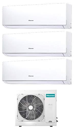 Climatizzatore Trial Split 9000 + 9000 + 18000 Btu, Inverter, A++/A+, Gas R32, Serie New Comfort