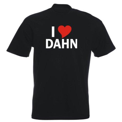 T-Shirt mit Städtenamen - i Love Dahn - Herren - unisex Schwarz