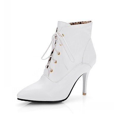 Rtry Femmes Chaussures Pu Similicuir Automne Hiver Confort Nouveauté Mode Bottes Bottes Talon Stiletto Toe Booties / Bottines À Lacets Pour Us9 / Eu40 / Uk7 / Cn41