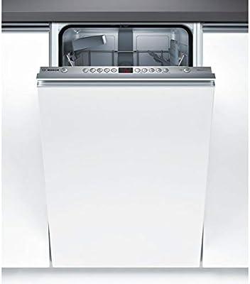 Bosch Serie 4 SPV45CX01E lavavajilla Totalmente integrado 9 cubiertos A+ - Lavavajillas (Totalmente integrado, Estrecho (45 cm), Blanco, Botones, LED, 1,75 m)