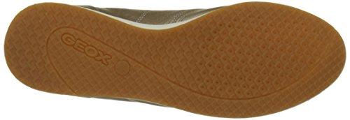 Geox D52H5A00085, Scarpe da Ginnastica Basse Donna Oro (CHAMPAGNECB500)