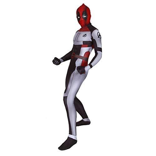 MWbetsy Männer Avengers Deadpool Kostüme Unisex Erwachsene Kinder Deadpool Overall Body Zentai Halloween Party Cosplay Kostüme Kostümneuheit Kleidung - Deadpool Kostüm Elasthan