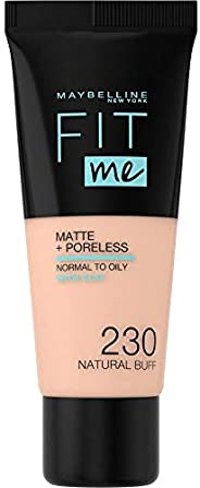Maybelline New York Fit Me Matte + Poreless Face Foundation - 30 ml, Natural Buff 230