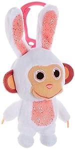 Joy Toy 31051 Wonderpark Wunderaffen - Peluche con Clip (8 cm), diseño de Conejo, Multicolor
