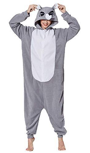 wäsche Kostüm Cosplay Unisex Erwachsene Frauen Männer Halloween Weihnachten Freunde Familie Paare Nachthemd Outfit Fleece Flanell Weißes Kaninchen Polyester ()
