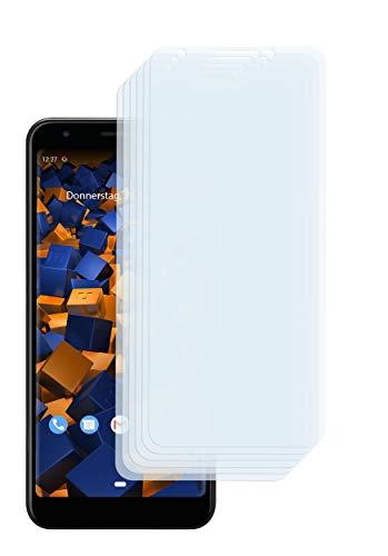 mumbi Schutzfolie kompatibel mit Google Pixel 3a XL Folie klar, Bildschirmschutzfolie (6x)