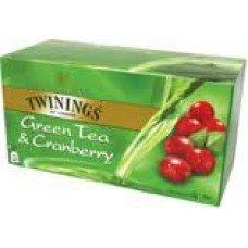 Twinings Green Tea & Cranberry, 25 Tea Bags, 40g
