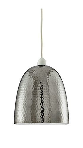 Moderna in nichel lucido metallo battuto Lampadario