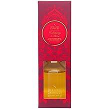 Shearer Candles Victorian Winter SD0501 - Diffusore di fragranza alle bacche di agrifoglio e chiodi di garofano in bottiglia in vetro trasparente, con bastoncini, 100 ml, colore: Rosso