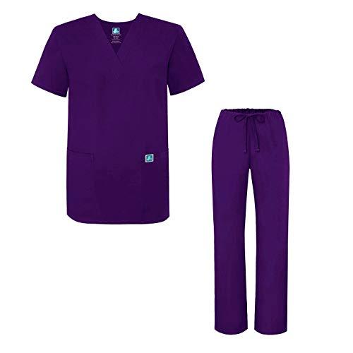 Adar Uniforms Uniforme Médico Unisex con Casaca y Pantalones - 701 Color  PRP | Talla: XL