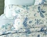 Bettwäsche Zucchi Komplettes Doppelbett ZUCCHI Feuille Perkal Angebot 160 x 190 cm blau