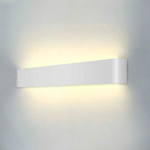 Wowatt LED Wandleuchte Innen Wandlampe Weiß Wandstrahler 20W Moderne Wandbeleuchtung Kinderzimmer...