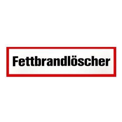 Brandschutzzeichen - Brandschutzschild Fettbrandlöscher Kunststoff