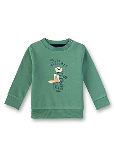 Sanetta Baby-Jungen Sweatshirt, Grün (Cold Green 4945), 68 (Herstellergröße: 068)