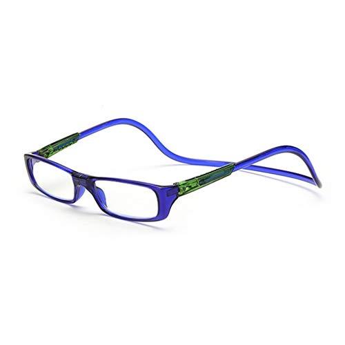 Keepmoving Herren Damen Designer Lesebrillen Lesehilfe Brillen Augen mit Magnet +1,0 bis +4,0(2 Kaufen, 3 Bekommen! 3 Kaufen, 5 Bekommen!Super Geschenk!!!) (Blau+Grün, 2,0)
