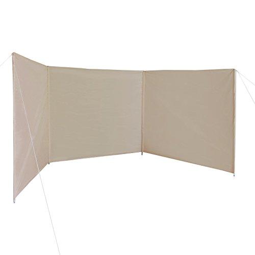 BB Sport Windschutz Sichtschutz WINDERMERE 500 x 140 cm für Strand Camping Garten inkl. Packtasche, Abspannleinen und Heringen, Farbe:Sandstrand