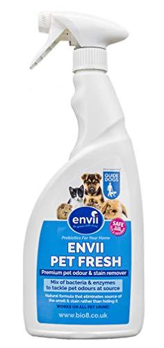 Envii Pet Fresh – Elimina Manchas y Olores, Quita Manchas & Neutralizador con Enzimas, para Cualquier Accidente de su Mascota – 750ml