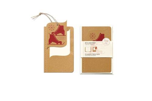 Moleskine–Pack 10ex Karten Ornament Tasche Ice Skate