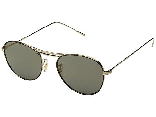 Oliver Peoples Unisex-Spiegel Cade, gebürstetes Gold/dunkles Schildkrötenmuster, Schwarz/Graphitgold, Einheitsgröße