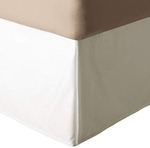 KIM DECO Base Volant Bettrock Klassisch Cotton Blend 3 Seite Wrap Bett Volant Dauerhaft 14