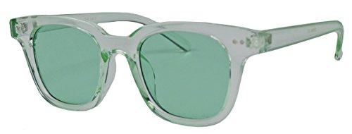 Retro Sonnenbrille in transparenten Candy Farben mit farbigen getönten Gläsern WF41 (Grün)