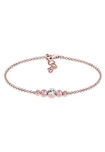 Elli Damen-Armband 925 Silber weiß Facettenschliff Swarovski Kristalle 16 cm 0201922617_16