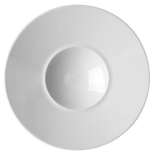 """Preisvergleich Produktbild Holst Porzellan ST 128 Gourmetteller tief 28 cm """"Style"""", weiß, 28 x 28 x 5.7 cm, 6 Einheiten"""