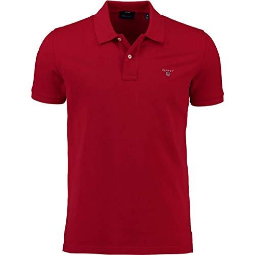 GANT Polo Shirt The Original Pique SS Rugger red, Gr.XXXXL Herren -