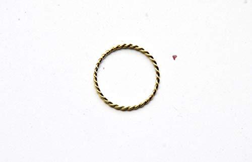 Minimalist Goldring für Frauen. Geflochtener Goldring, Goldschmuck für Frauen | Stapelring, Bandring, Damen Stapelring, Spiralring