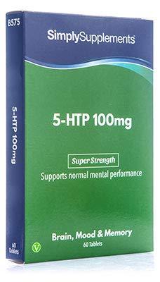 5-HTP 100mg - 60 Tabletten - Versorgung für bis zu 2 Monaten - Stimmungsunterstützend - Simply Supplements -