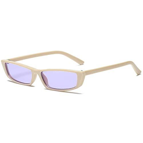 WERERT Sportbrille Sonnenbrillen Vintage Cat Eye Sunglasses Women Fashion Small Frame Sun Glasses Ladies Retro Personality Cat Eyeglasses UV400