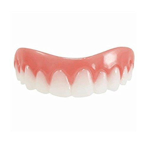 Gugutogo - Bequeme natürliche Silikon oberen kosmetischen Veneer Zahn Abdeckung Beauty Tool - geeignet für Männer Frauen - Micro-dünne Polypropylen Veneer - perfekt für den täglichen Einsatz, bei Ihrer Arbeit, Hochschule, Klassentreffen, Hochzeiten und jede Art von Familientreffen (Instant Lächeln Zähne Für Erwachsene)