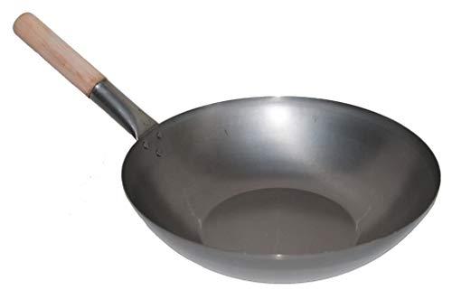 . 35 cm Durchmesser Flacher Boden für Gas, Gastronomie, Wokpfanne ()