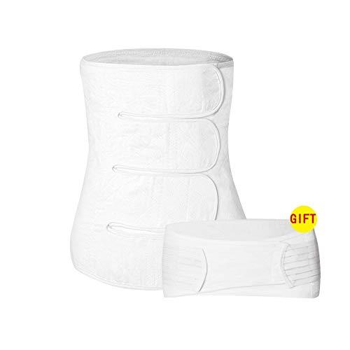 FS Frauen Postnatale Recoery Bauch Taille Atmungsaktiv Gürtel Gürtel Former Für Frauen Nach Der Geburt Und Mutterschaft Abnehmen (Color : White, Size : M) -