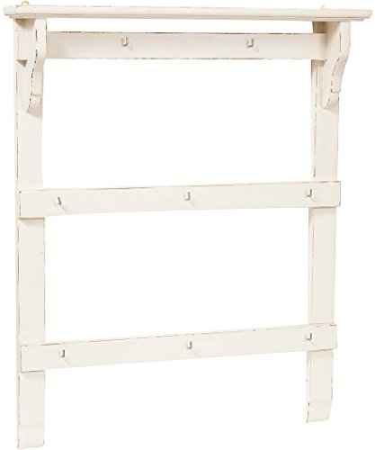 Attaccarame-in-legno-massello-di-tiglio-finitura-bianca-anticata-85x14x103-cm