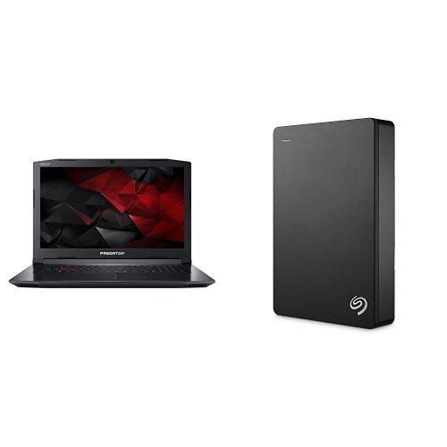Acer Predator 17.3-Inch Notebook (Intel Core i7-7700HQ Processor, 16 GB RAM, 1 TB HDD, 256 GB SSD, NVIDIA GeForce GTX 1060, Windows 10) + 4TB Seagate Backup Plus External Hard Drive