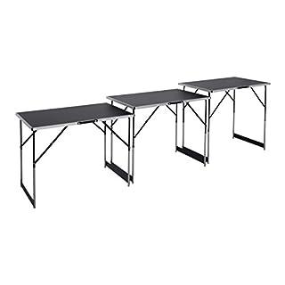 Meister Multifunktionstisch 3-teilig - 30 kg Tragkraft je Tisch (100 x 60 cm) - 4-fach höhenverstellbar - Klappfunktion / Beer-Pong Tisch / Tapeziertisch / Flohmarkttisch / Beistelltisch / 4357760