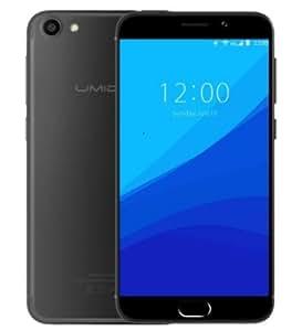 UMIDIGI G - Android 7.0 Schermo da 5 pollici GORILLA GLASS Ultra leggero e sottile 4G smartphone Quad Core 1.3GHz 2GB RAM 16GB Impronta digitale - Nero scuro