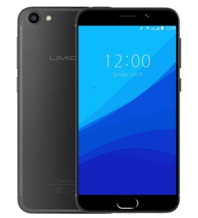 UMIDIGI G - Android 7.0 4G 5.0 Zoll GORILLA 4. GLASS Bildschirm Ultra light & schlankes Smartphone Quad Core 1.3GHz 2GB RAM 16GB Fingerabdruck - Dunkles Schwarz