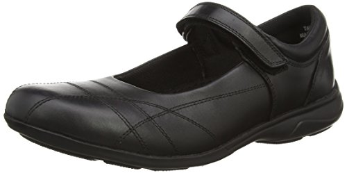 Toughees Shoes Girls' Rebecca Velcro Mary Jane, Black (Black), 1 UK