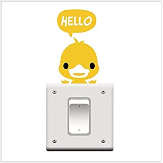 Duck Pet Light Switch Funny Wall Decal Vinyl Sticker