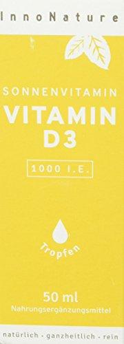 Vitamin D3 (Cholecaciferol) 1.750 Tropfen (1000 I.E. - 25µg) in 50ml Flasche. Natives Olivenöl mit Vitamin D3 aus Flechten. Laborgeprüft, sehr hohe Bioverfügbarkeit, hochdosiert, vegan und hergestellt in DE.