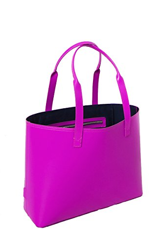 paperthinks-100-recycled-leather-small-tote-bag-magenta-purple
