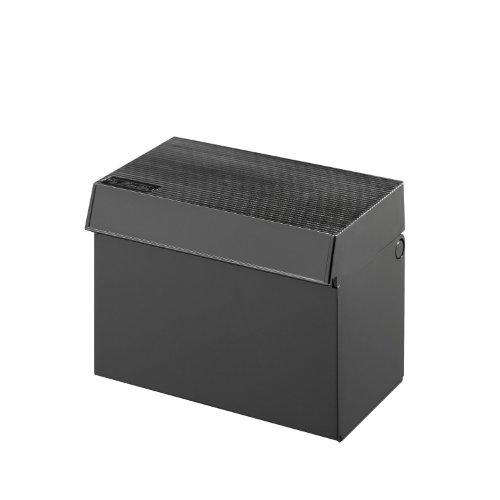 Herlitz-Caja para Fichas A7,, Profiline, plástico, relleno de 300tarjetas, mecanismo de giro de la solapa, 1unidad), color negro en paquete transparente), Max.