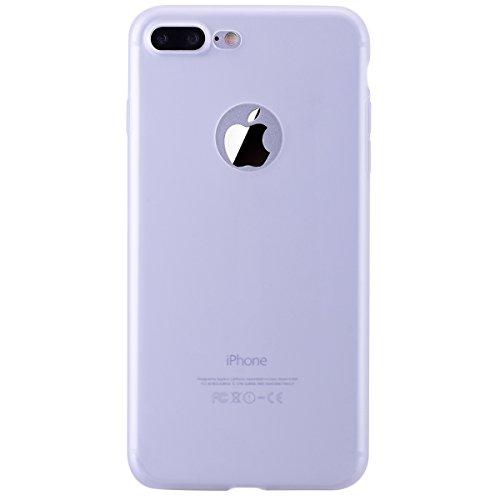 Dexnor Cover per iPhone 7 Plus Custodia Caso, Durevole Candy Case Silicone Soft TPU Gel Morbido Sottile Protettiva Flessibile Bumper Back Cover Gomma Slim Protezione Posteriore Protector per Apple iPh Transparent/ Bianco